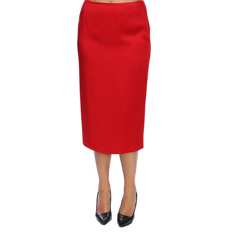 Skirt women Marina Rinaldi red 1