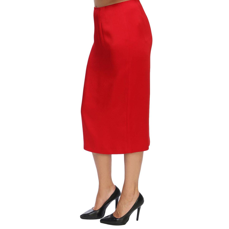 Skirt women Marina Rinaldi red 2