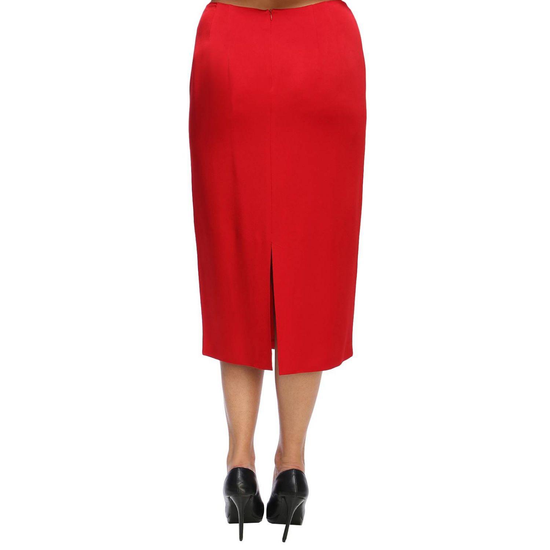Skirt women Marina Rinaldi red 3