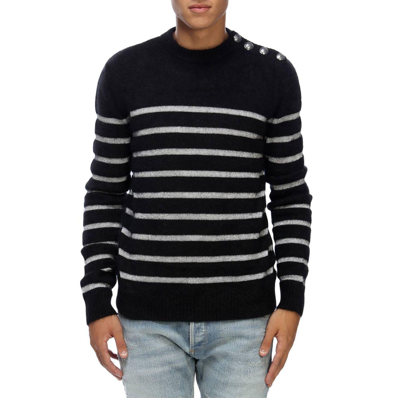 Pullover herren Balmain schwarz 1