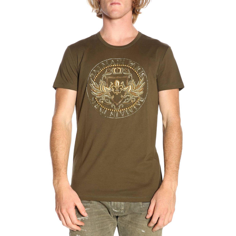 T-shirt men Balmain kaki 1