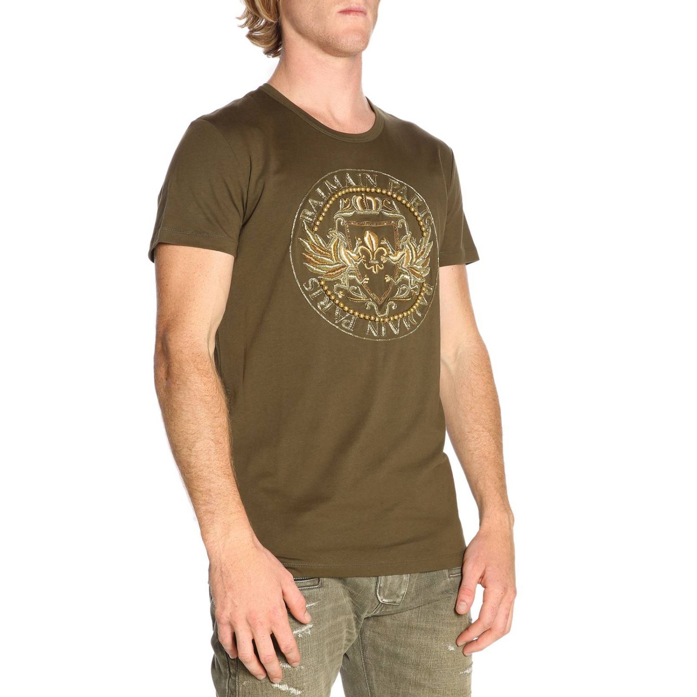 T-shirt men Balmain kaki 2