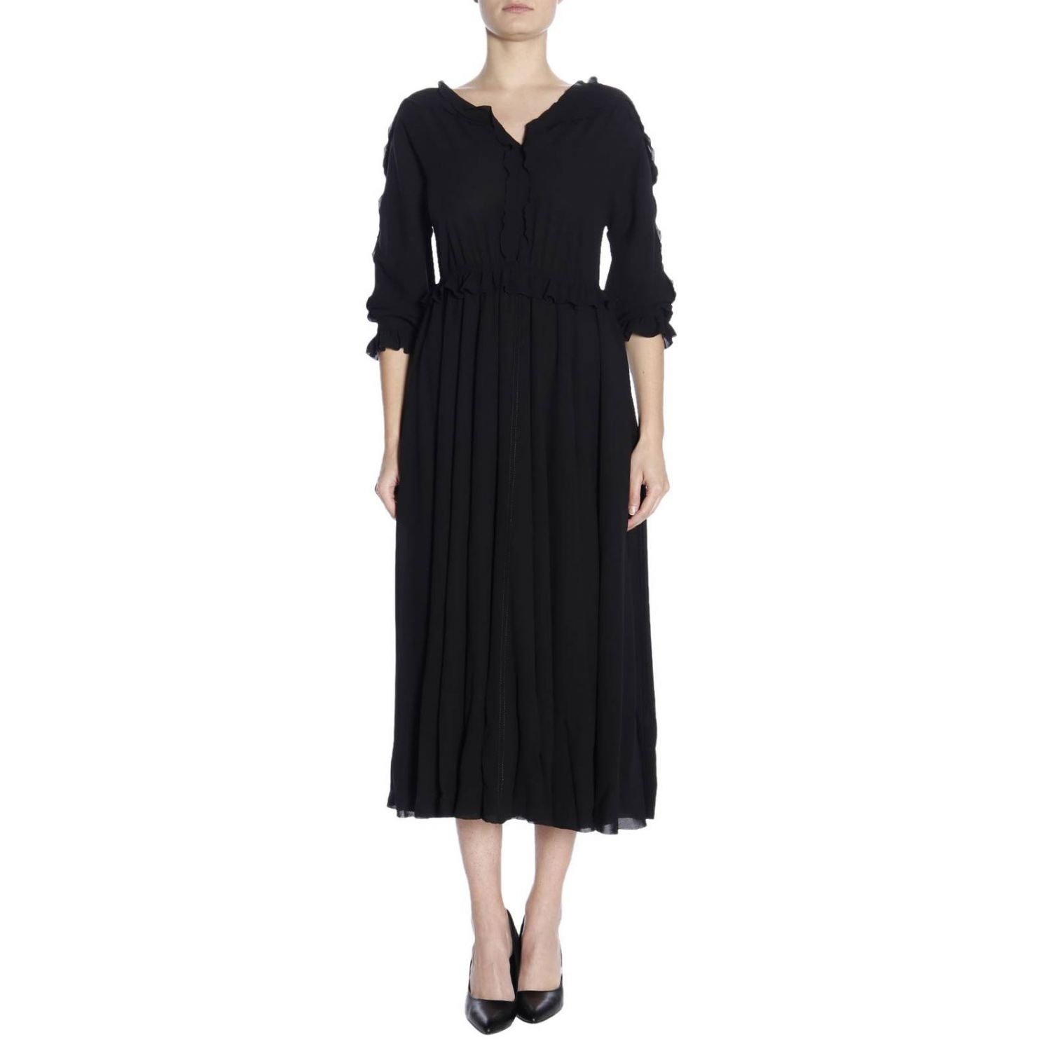 Dress women Bottega Veneta black 1
