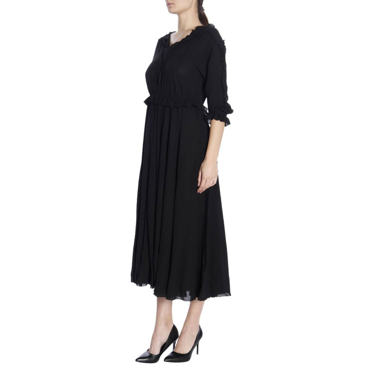 Dress women Bottega Veneta black 2