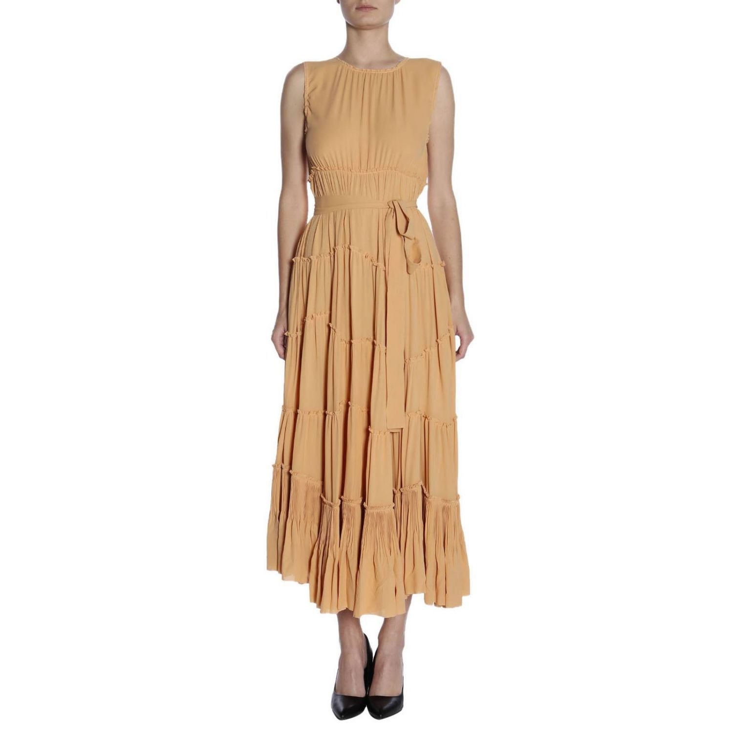Dress Bottega Veneta: Dress women Bottega Veneta peach 1