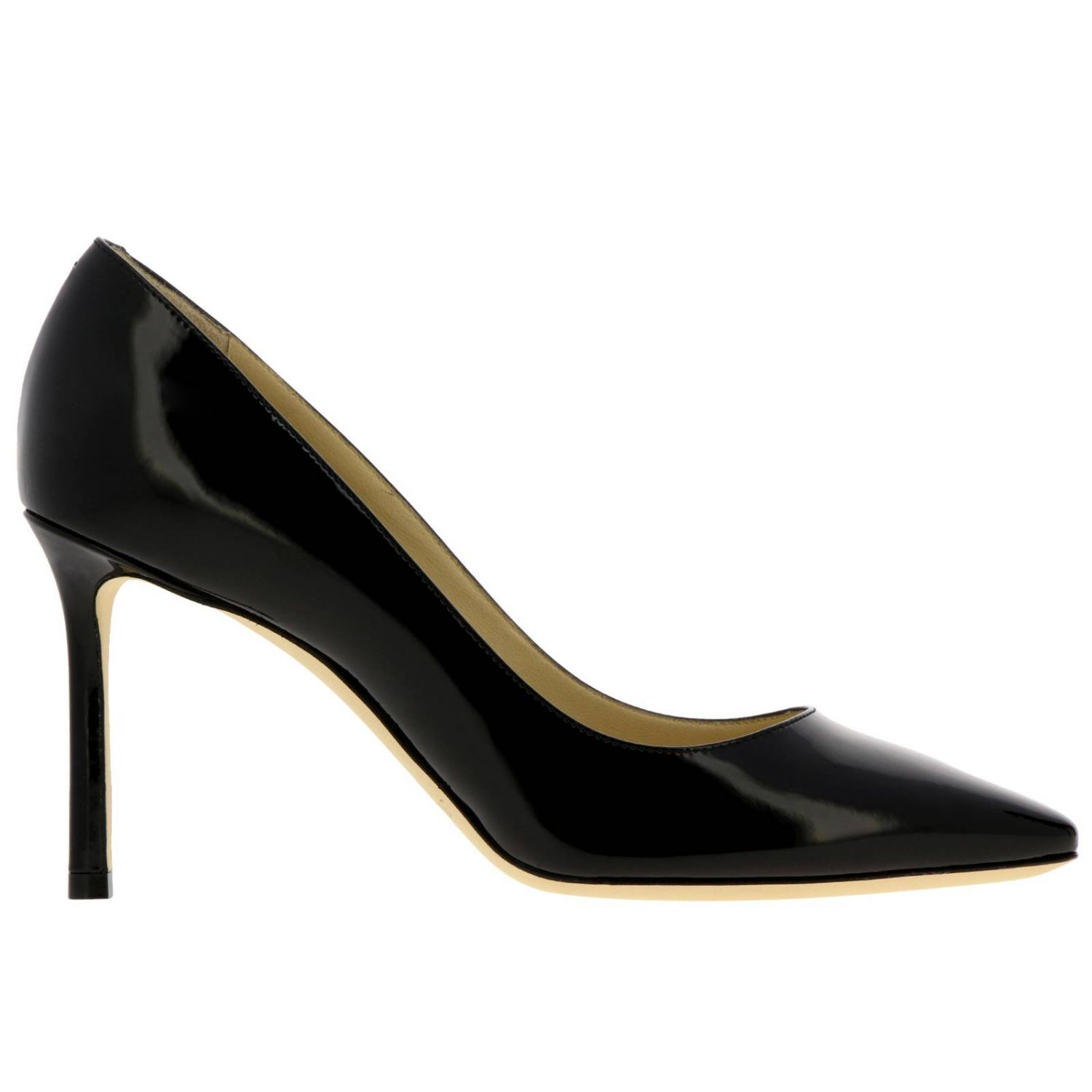 Décolleté Romy Jimmy Choo a punta in vernice nero 1