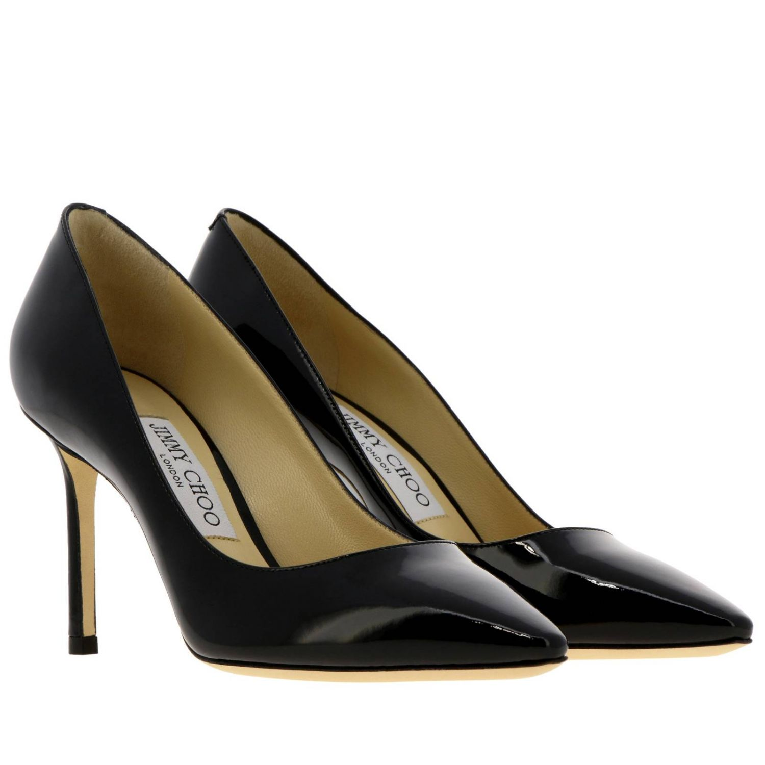 Décolleté Romy Jimmy Choo a punta in vernice nero 2