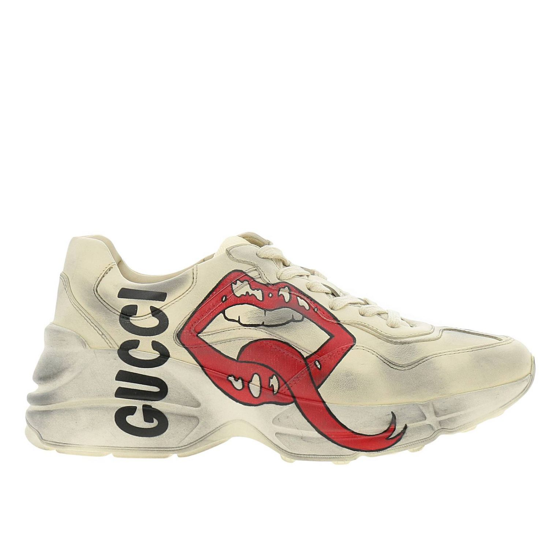 Schuhe damen Gucci weiß 1