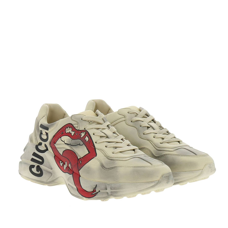 Schuhe damen Gucci weiß 2