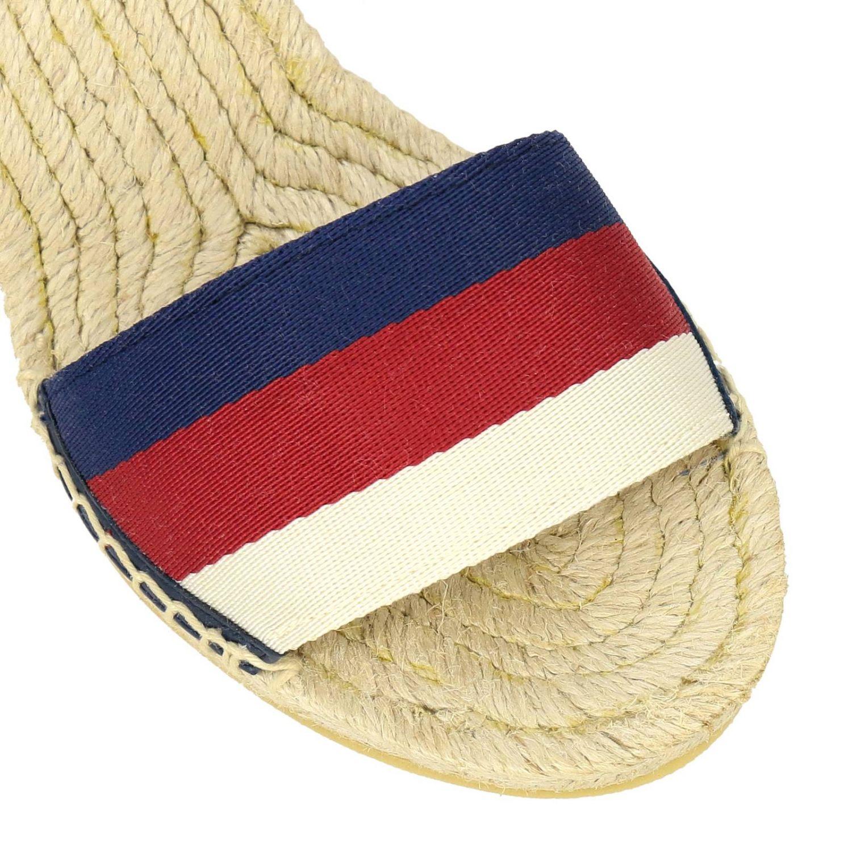 Sandalo a zeppa Lilibeth in corda intrecciata e tela Web Gucci rosso 3