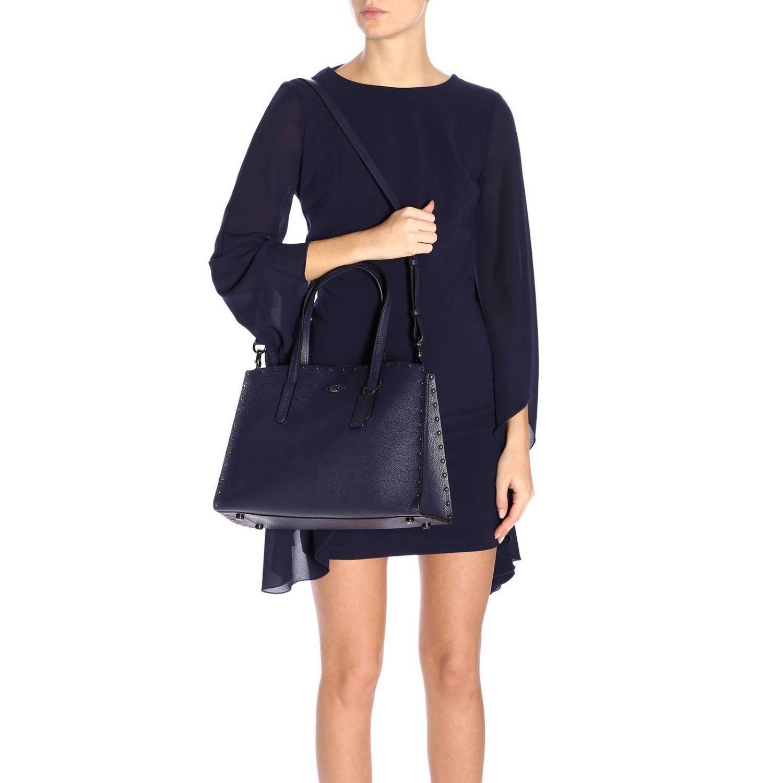 Shoulder bag women Coach blue 2