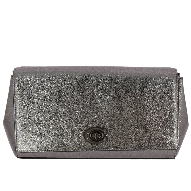 Shoulder bag women Coach grey 1