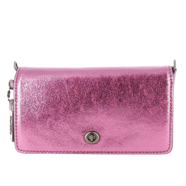 Mini bag Coach: Shoulder bag women Coach cyclamen 1