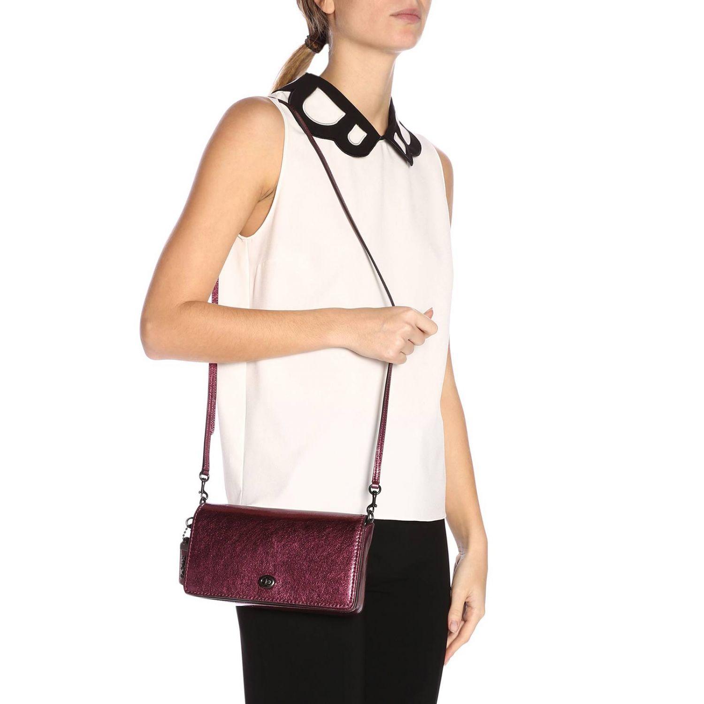 Mini bag Coach: Shoulder bag women Coach cyclamen 2
