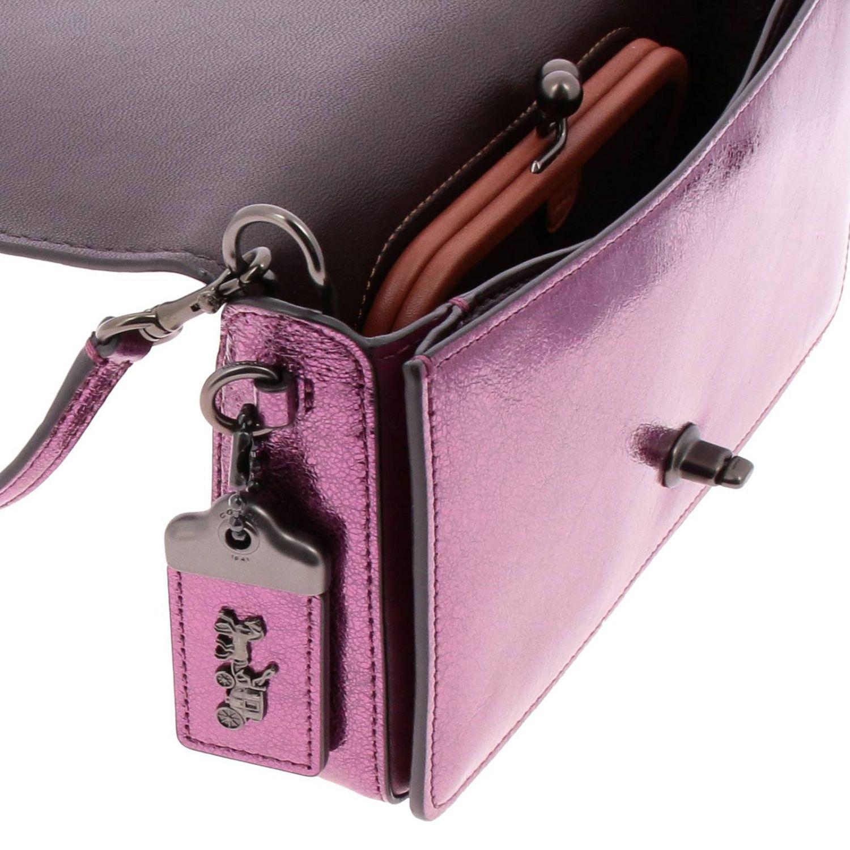 Mini bag Coach: Shoulder bag women Coach cyclamen 4