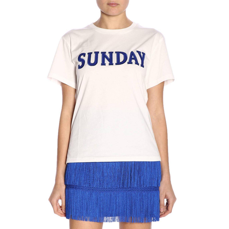 T-shirt women Alberta Ferretti white 1