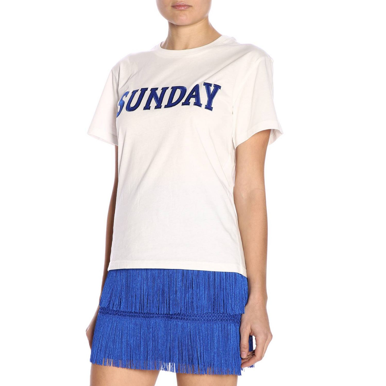 T-shirt women Alberta Ferretti white 2