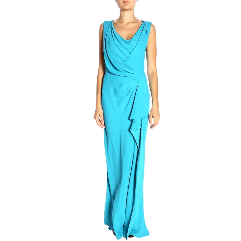 Robes Alberta Ferretti: Robes femme Alberta Ferretti bleu azur 1