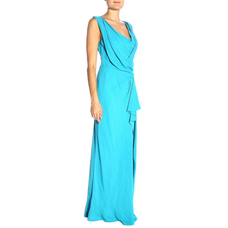 Robes Alberta Ferretti: Robes femme Alberta Ferretti bleu azur 2