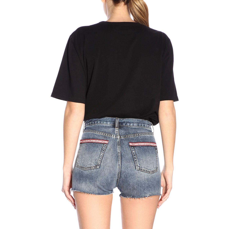 T-shirt damen Saint Laurent schwarz 3