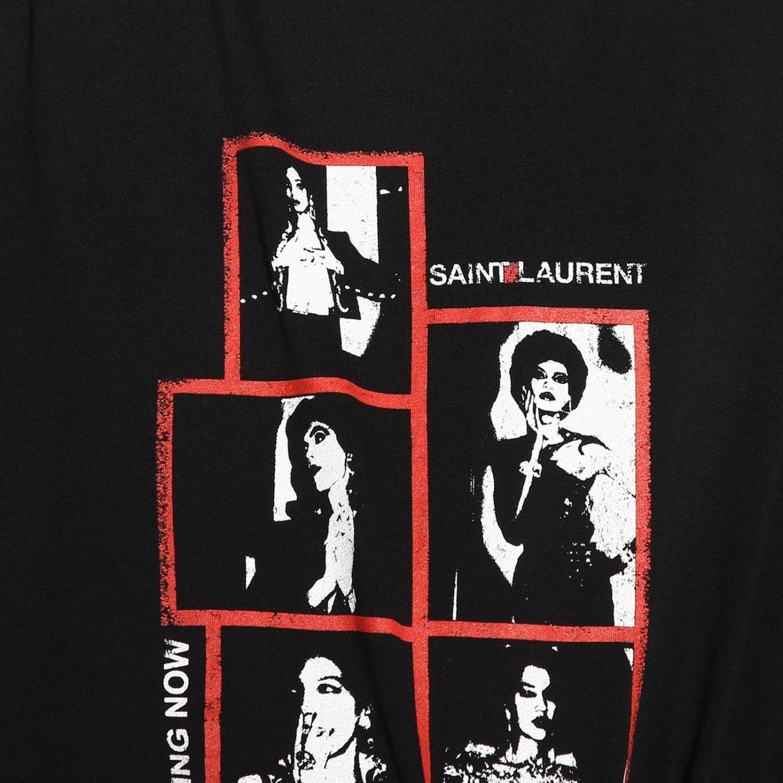 T-shirt damen Saint Laurent schwarz 5