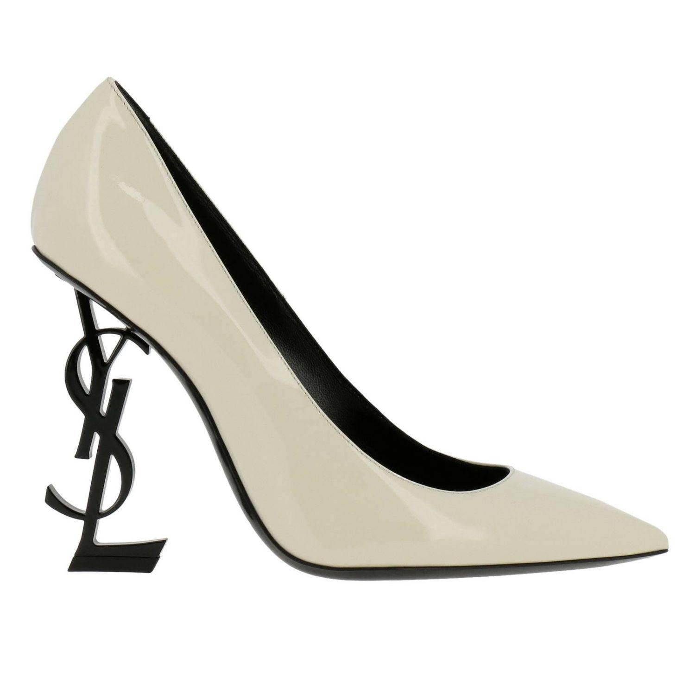 Shoes women Saint Laurent yellow cream 1