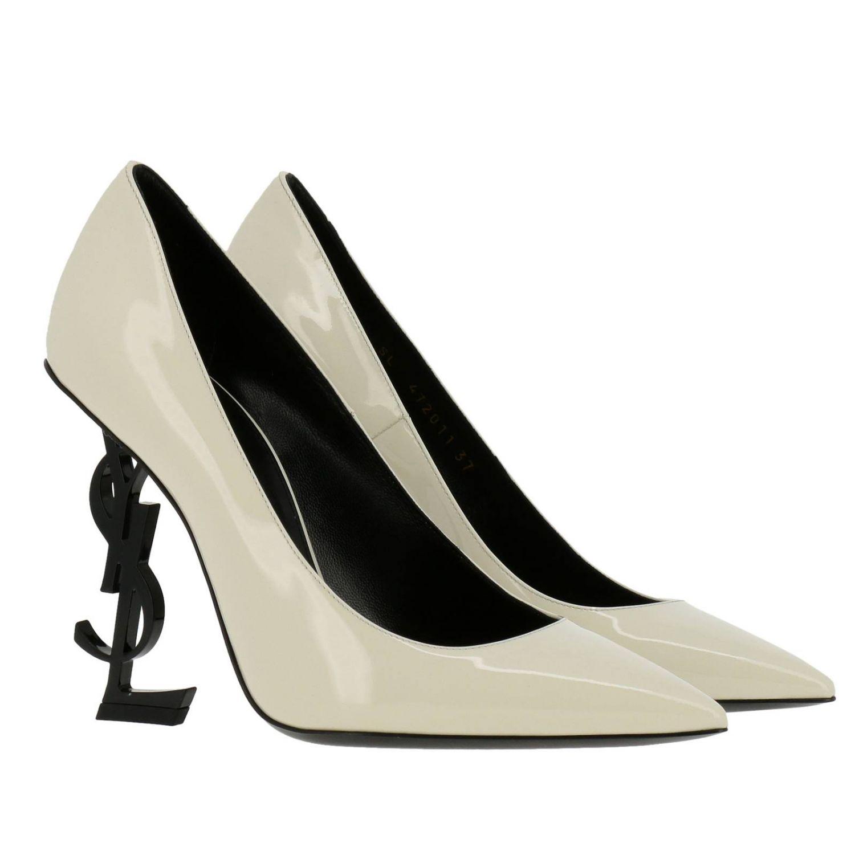 Shoes women Saint Laurent yellow cream 2