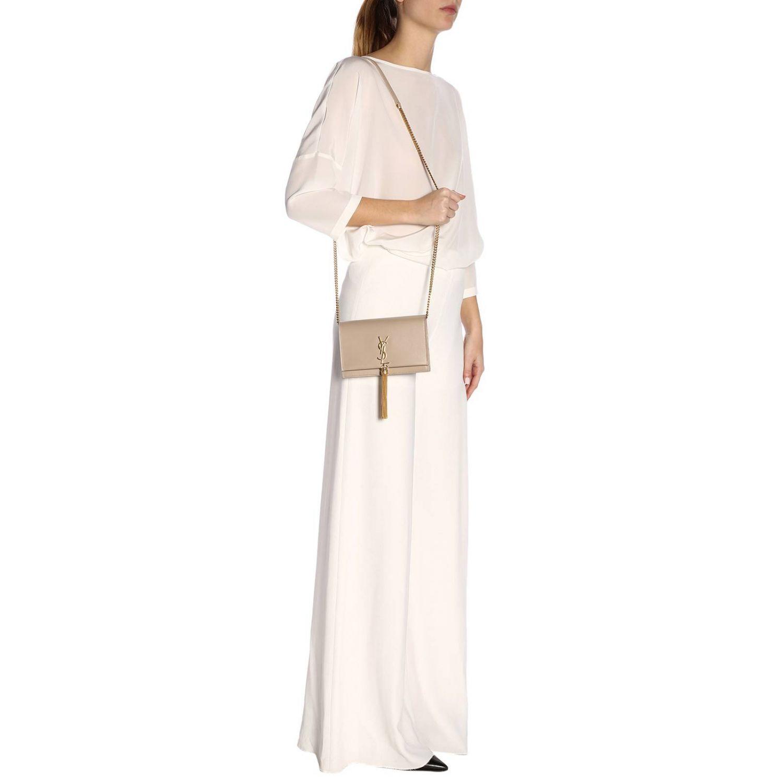 Mini bag women Saint Laurent beige 2