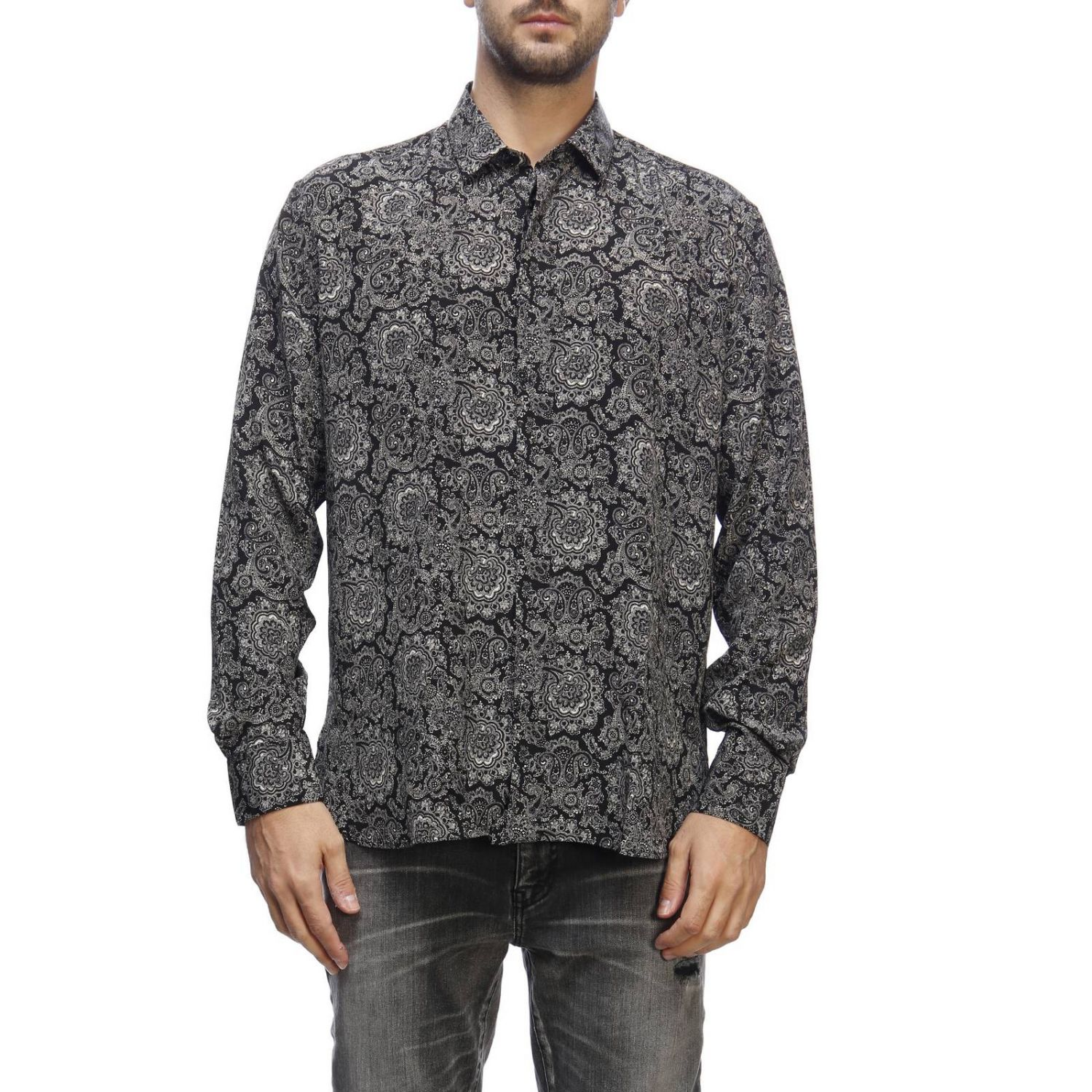 Shirt men Saint Laurent black 1