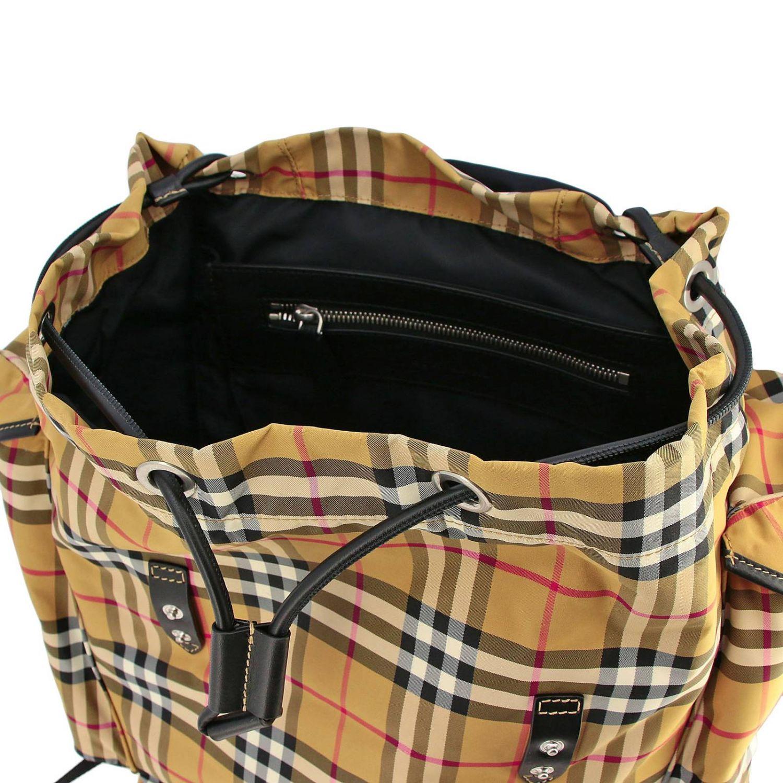 Zaino Ranger in nylon check vintage Burberry con multi fibbie beige 5