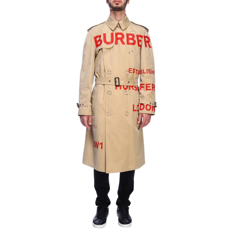 Cappotto Burberry: Trench con scritte rosse beige 1