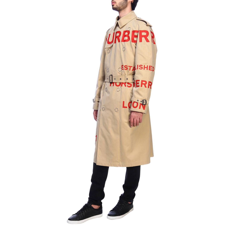 Cappotto Burberry: Trench con scritte rosse beige 2