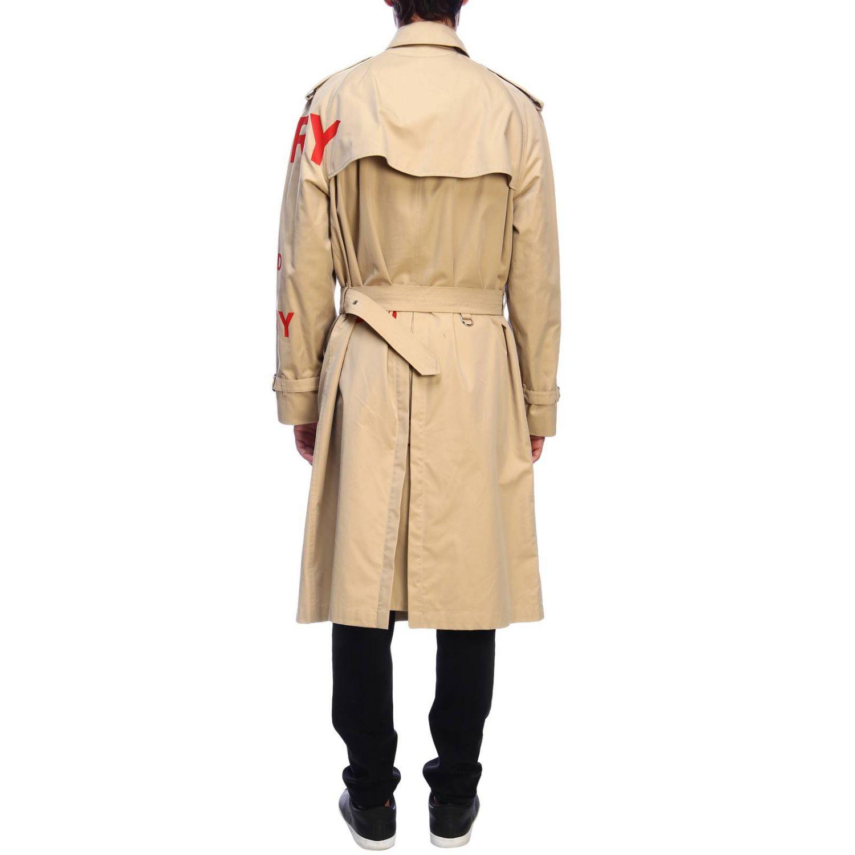 Cappotto Burberry: Trench con scritte rosse beige 3