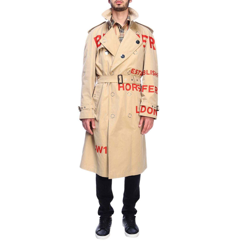 Cappotto Burberry: Trench con scritte rosse beige 6