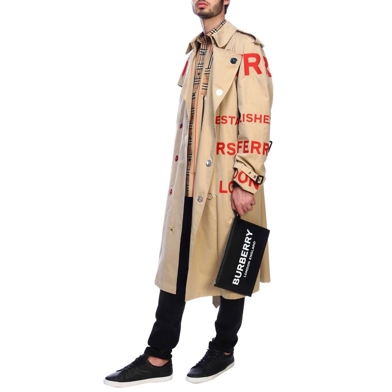 Cappotto Burberry: Trench con scritte rosse beige 7