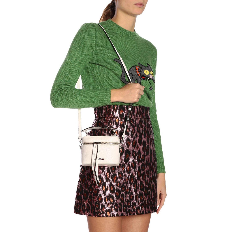 Mini bag Miu Miu: Shoulder bag women Miu Miu white 2