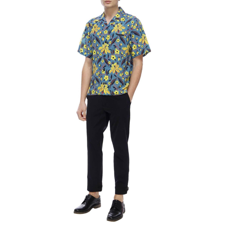 Рубашка Мужское Prada синий 5