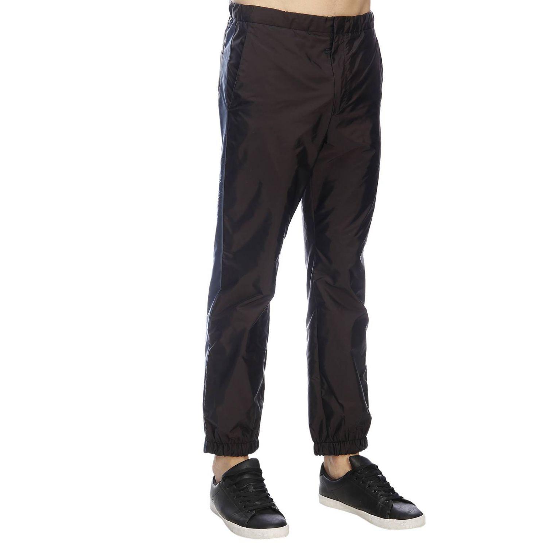 Trousers Prada: Trousers men Prada black 2