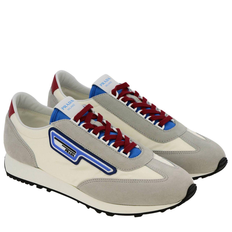 Shoes men Prada white 2
