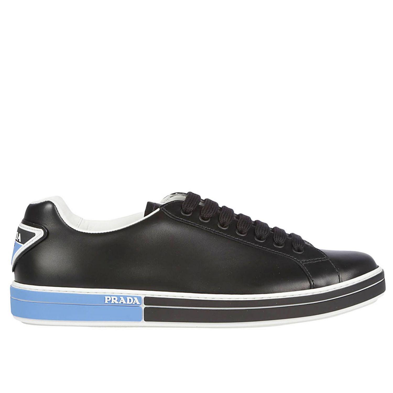 Sneakers Prada: Shoes men Prada black 1