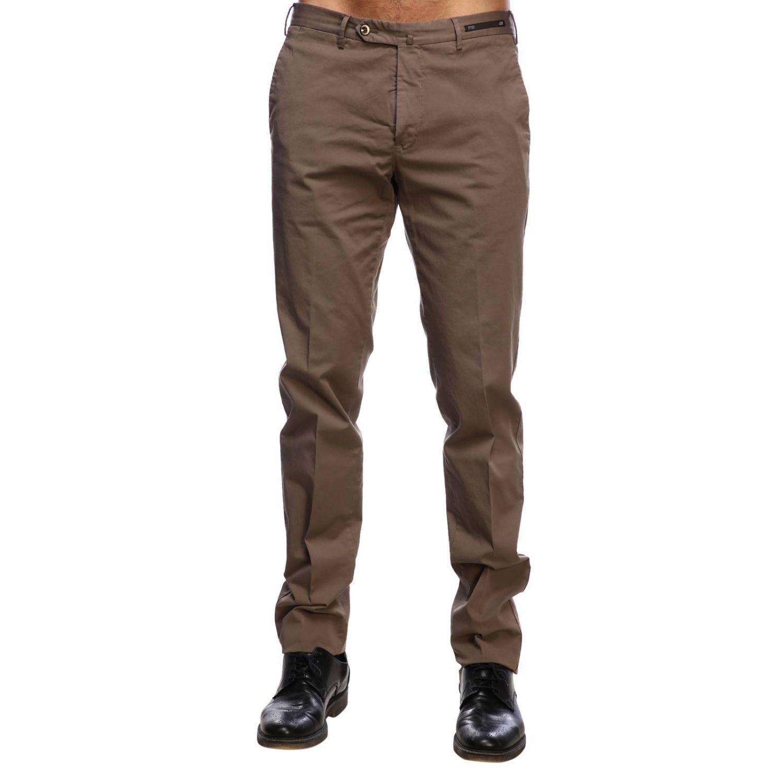 Pantalone Graven fit super slim comfort stretch in cotone tortora 1