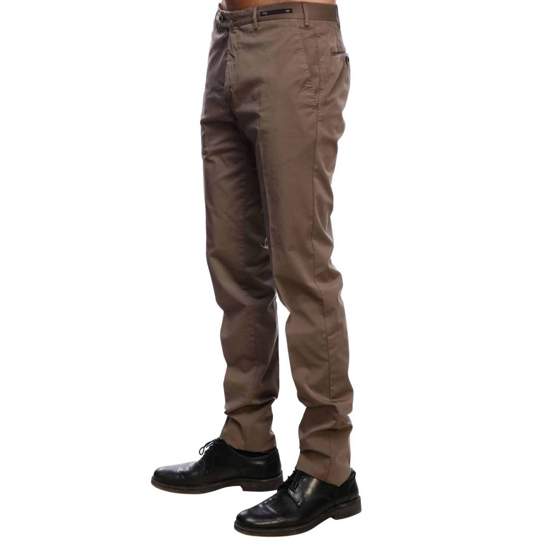 Pantalone Graven fit super slim comfort stretch in cotone tortora 2
