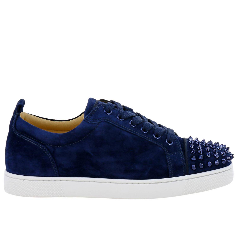 baskets louboutin bleu