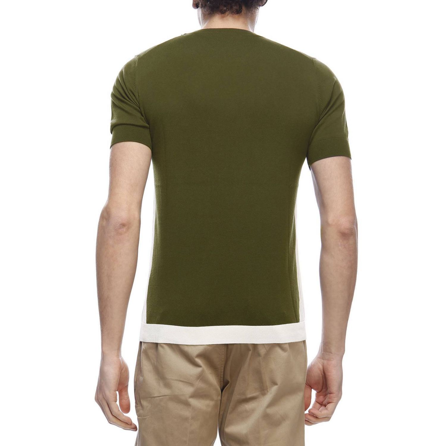 Pull homme Paolo Pecora vert militaire 3