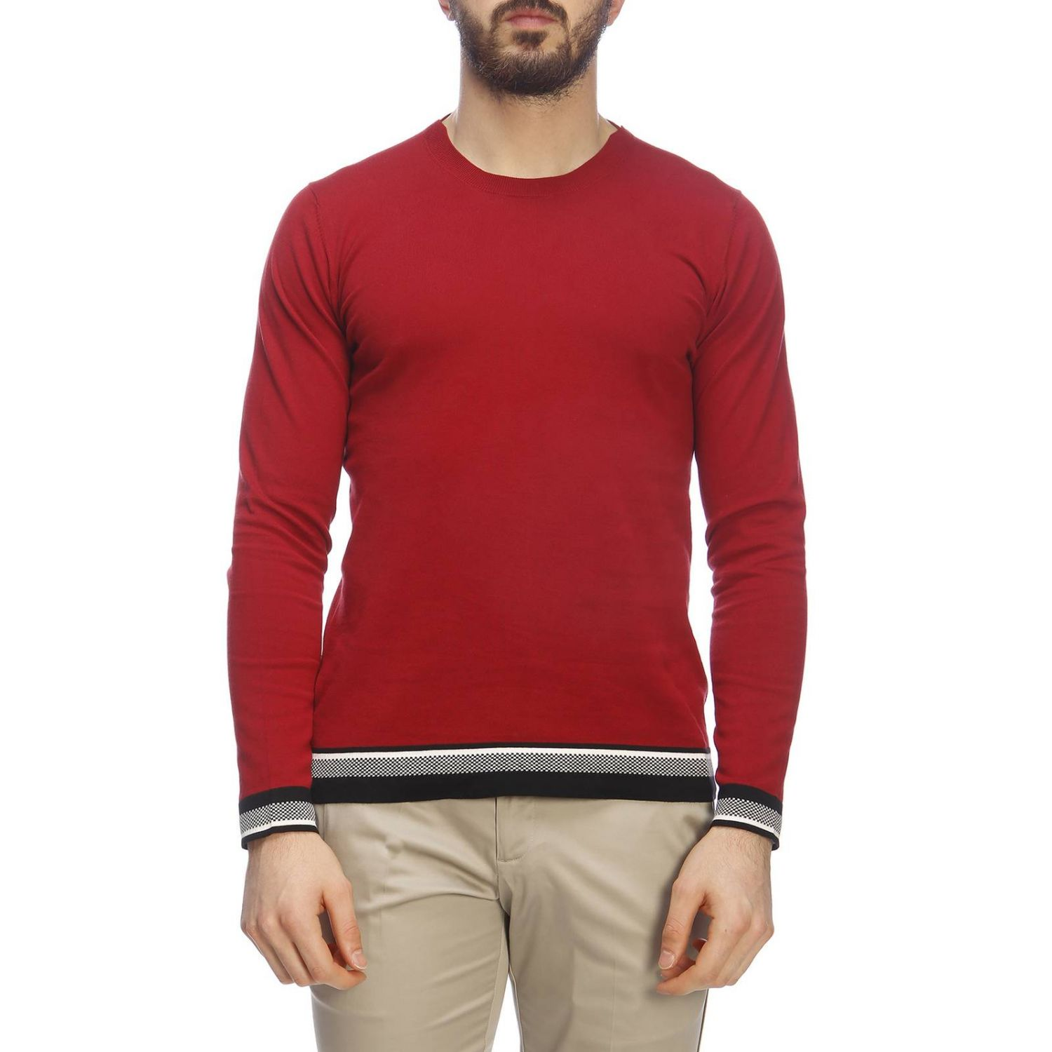Pull homme Paolo Pecora rouge 1