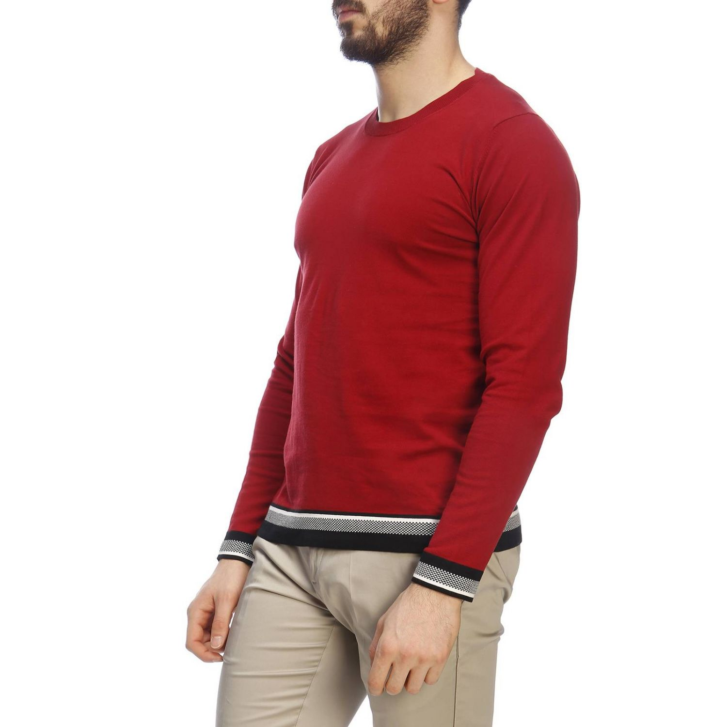 Pull homme Paolo Pecora rouge 2