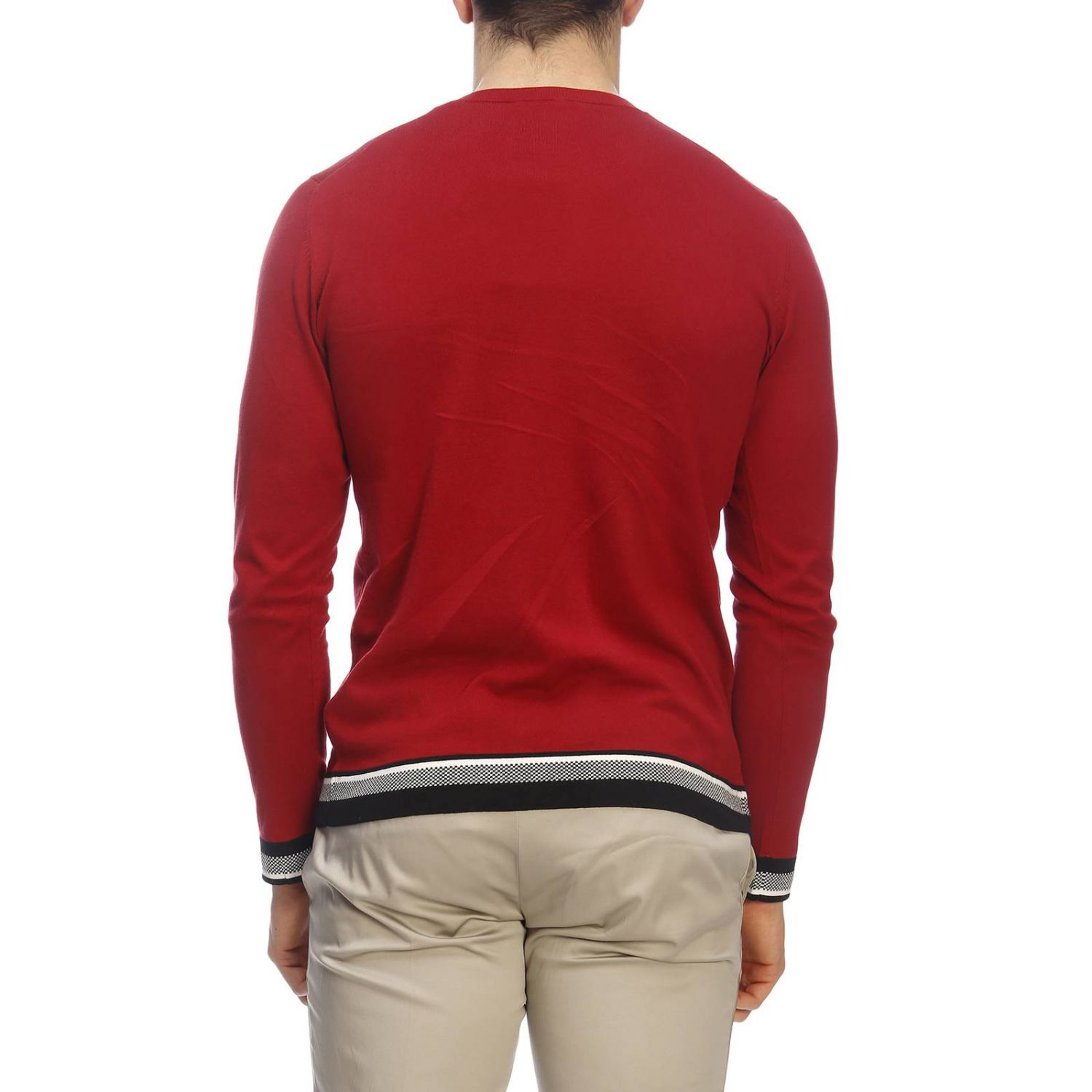 Pull homme Paolo Pecora rouge 3