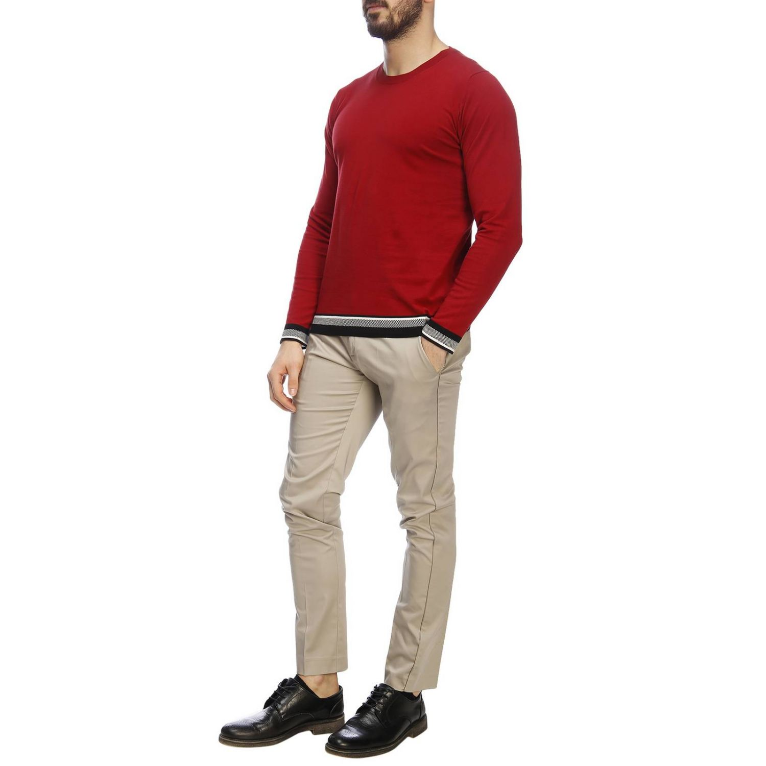 Pull homme Paolo Pecora rouge 4