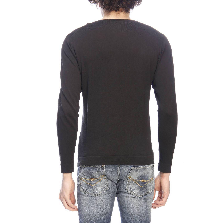 Maglia Paolo Pecora a maniche lunghe basic finezza 16 nero 3