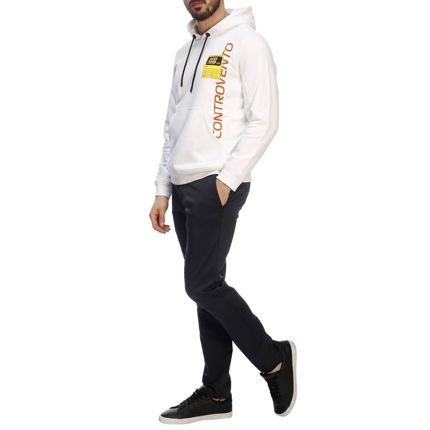 Pull Paolo Pecora: Pull homme Paolo Pecora blanc 5